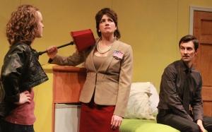 Megan Tusing, Catia Ojeda and Jeff Wolf at Railroad Playhouse, October 2012